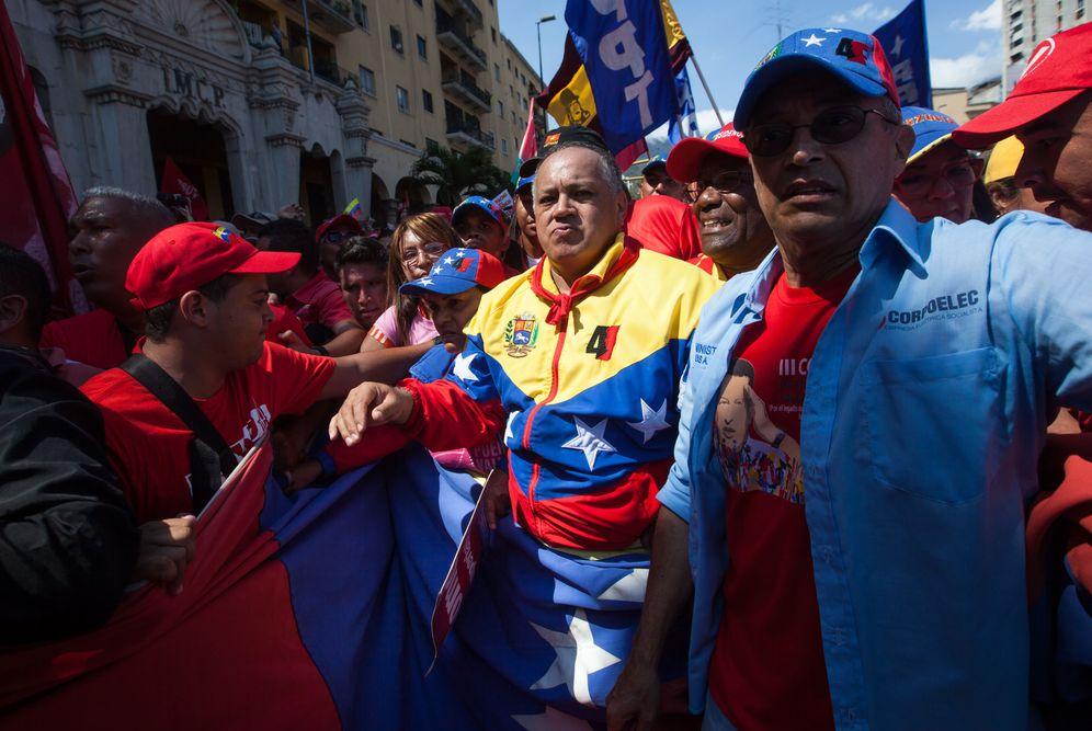 Foto: Diosdado Cabello, durante una marcha progubernamental en Caracas, el 12 de marzo de 2016. (EFE)