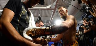 Post de Mayweather da ventaja a McGregor con los guantes: el KO está más cerca