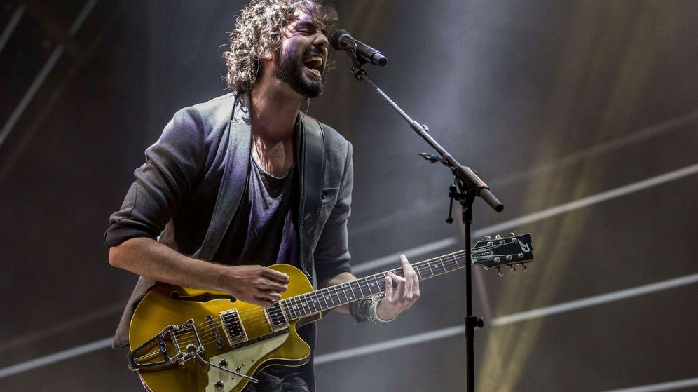 Foto: Mikel Izal en concierto en Murcia. (EFE)