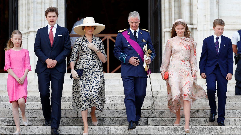 Foto: La familia real de Bélgica, al completo. (Reuters)