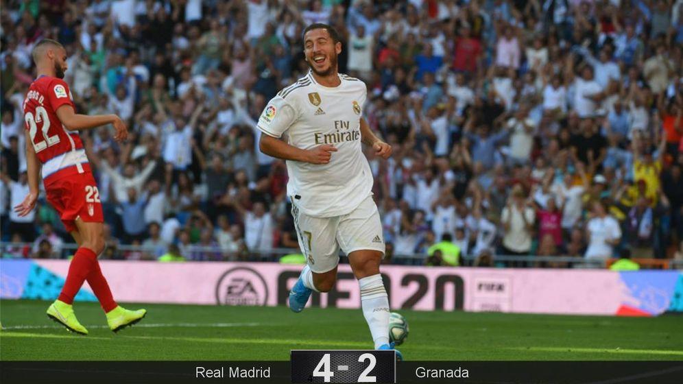 Foto: Hazard celebra su gol contra el Granada. (EFE)