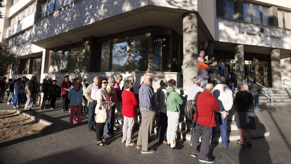 Foto: Última vista del caso de las preferentes en los juzgados de Plaza Castilla. EFE