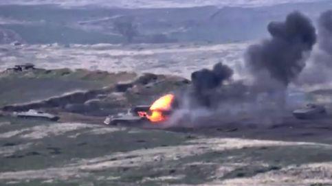 Las llamadas a la paz no apagan los combates este lunes entre Armenia y Azerbaiyán