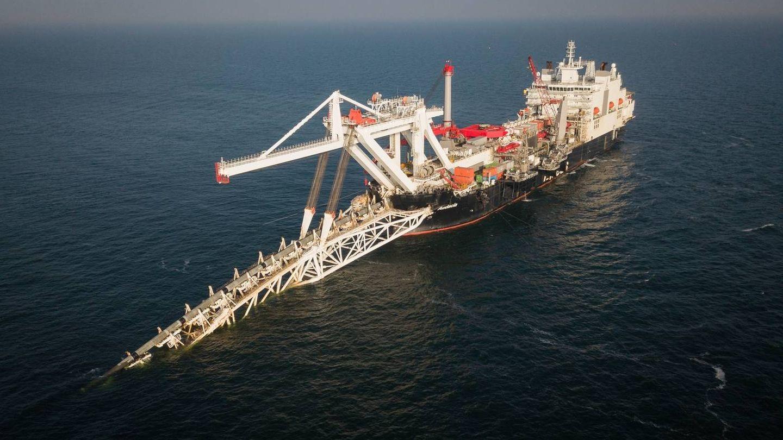 Barco Audacia, otro de los que ha participado en la construcción del gaseoducto. (Nord Stream 2/Axel Schmidt)