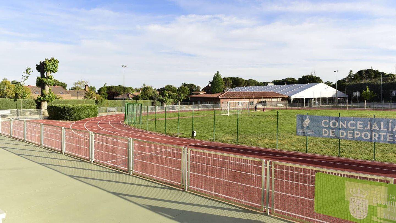 La pista del colegio Virgen de Europa. (Ayuntamiento de Boadilla)