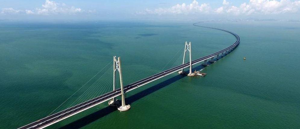 Foto: El puente Hong Kong-Zhuhai-Macao cuenta con 55 kilómetros de longitud. (Reuters)