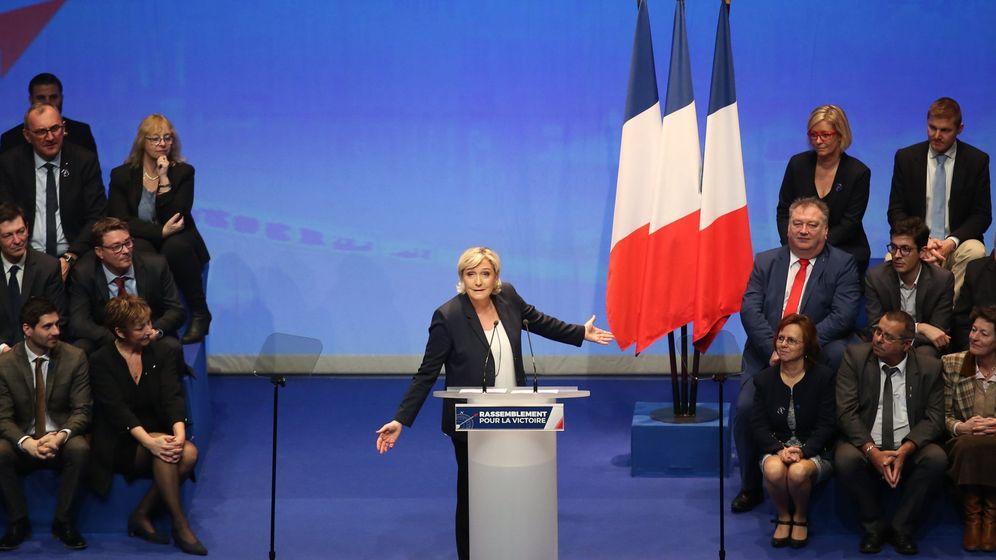 Foto: Le Pen, en el congreso nacional del partido. (EFE)