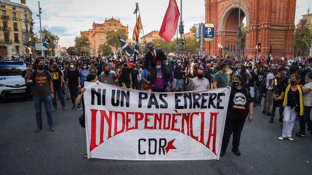 Foto: Manifestación de los CDR en la celebración de la Diada 2020. (Anonymous)