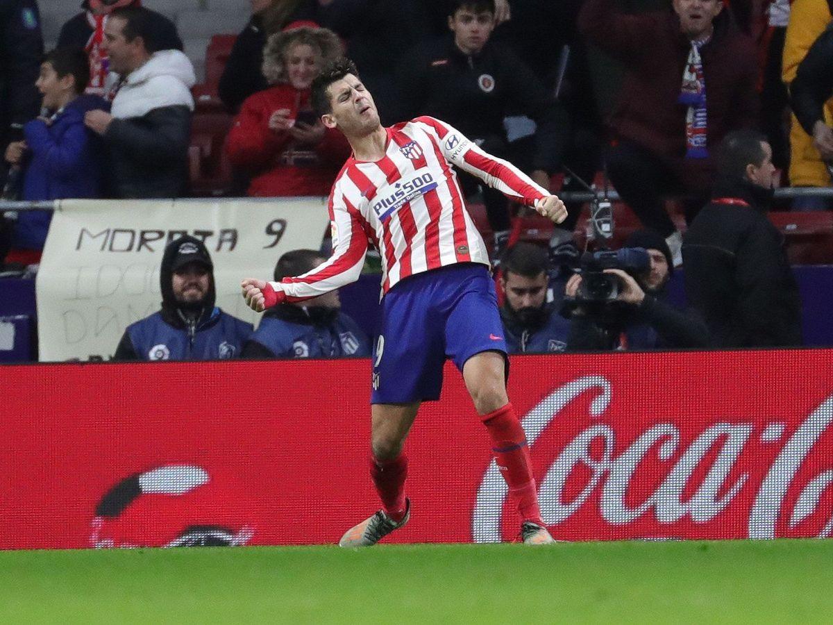 Foto: Álvaro Morata celebró con rabia su gol ante Osasuna. (EFE)