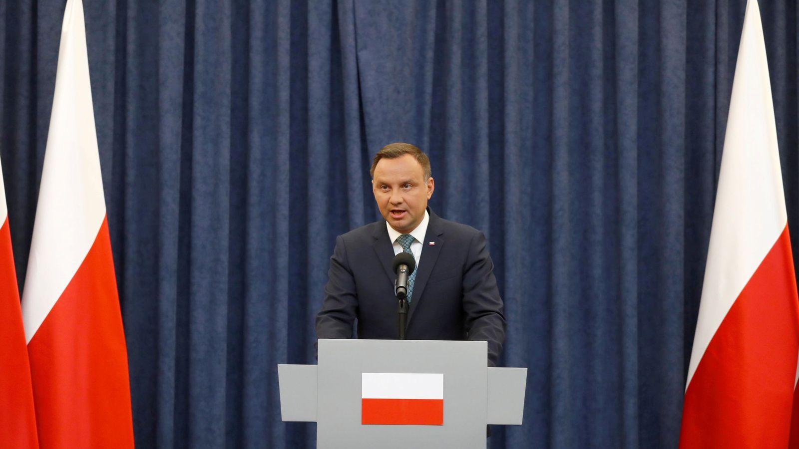 Foto: El presidente de Polonia, Andrzej Duda, en el Palacio Presidencial. (Reuters)