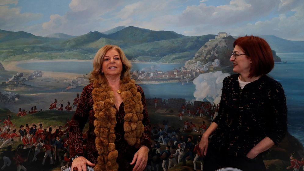 Foto: La presidenta de Covite, Consuelo Ordóñez (i), y la eurodiputada Maite Pagazaurtundua. (EFE)