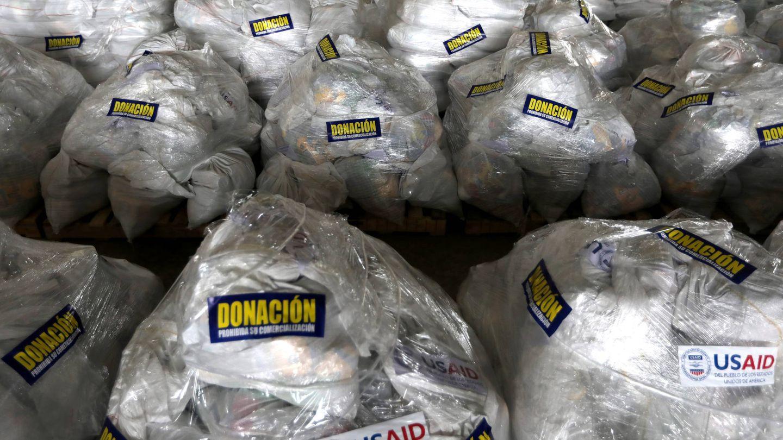 Ayuda humanitaria para Venezuela procedente de EEUU en un almacen en Cúcuta, en la frontera entre Colombia y Venezuela. (Reuters)
