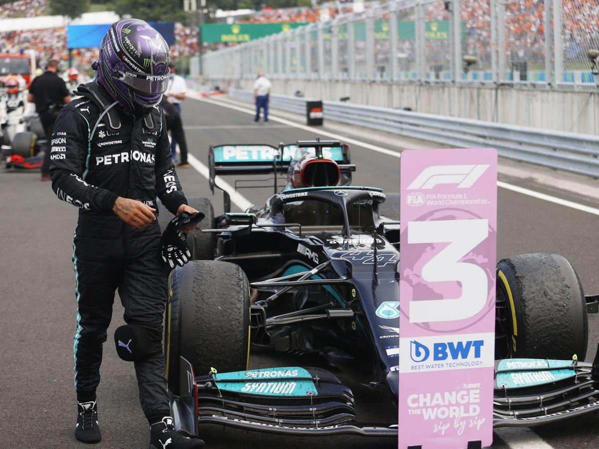 Foto: Hamilton no se tomó bien la victoria perdida en Hungría
