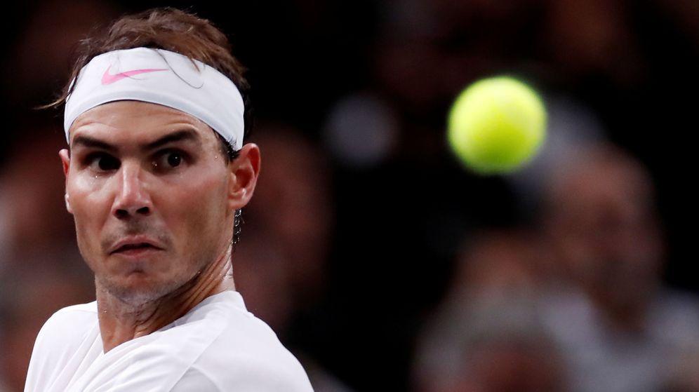Foto: Rafa Nadal durante este Masters 1000 de París-Bercy. (Reuters)