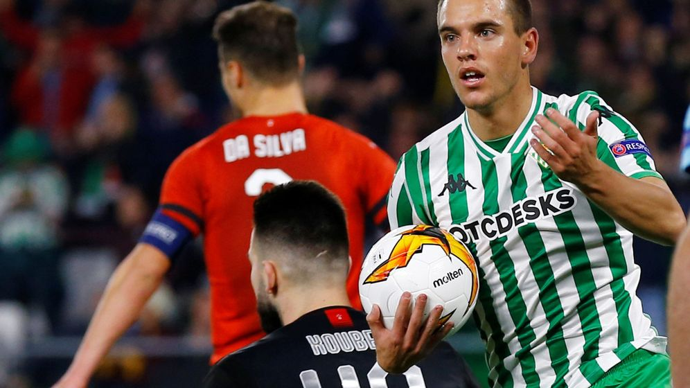 Foto: Lo Celso en el momento de celebrar un gol con el Betis. (Reuters)