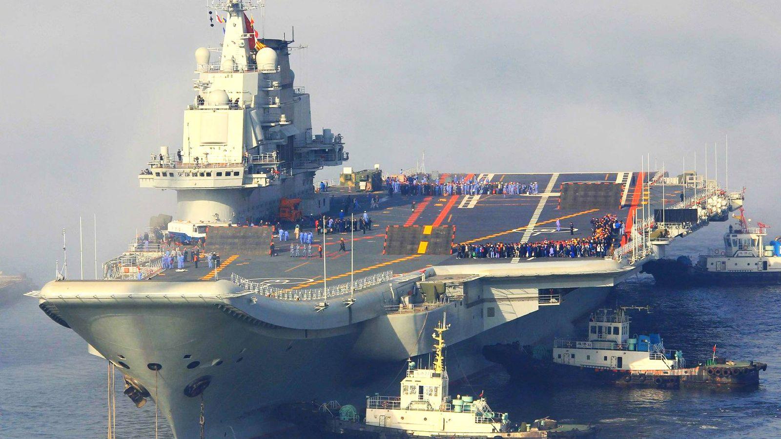 Foto: El flamante portaaviones chino CV-16 Liaoning