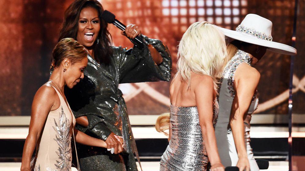 Foto: Michelle Obama fue la gran estrella de los Grammy. (Getty)