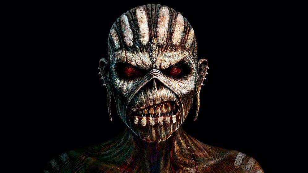 Foto: Las 16 portadas de 'estudio' de Iron Maiden con sus 16 Eddies