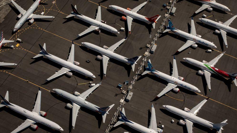 Foto: Decenas de aviones en tierra. (Reuters)