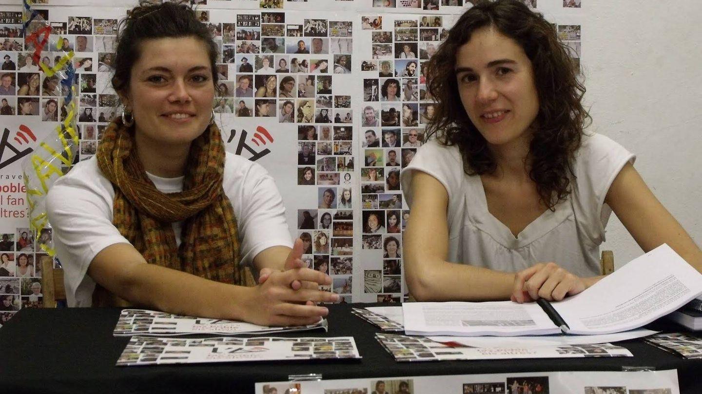Elisenda Alamany y Gemma Ubasart, durante una rueda de prensa  L'Altraveu en 2011. (L'Altraveu)