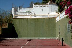 Foto: El pádel que Jiménez Aguilar se construyó en los tiempos de oro de Alfonso de Hohenlohe