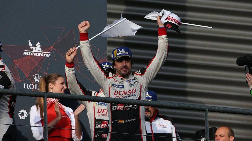 Foto: El Toyota 8 de Fernando Alonso se llevó la victoria en Spa. (Twitter: @Toyota_Hybrid)