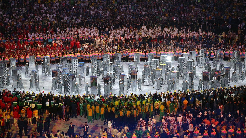 El desfile de naciones, en los Juegos Olímpicos de Río 2016, una vez finalizado (EFE)