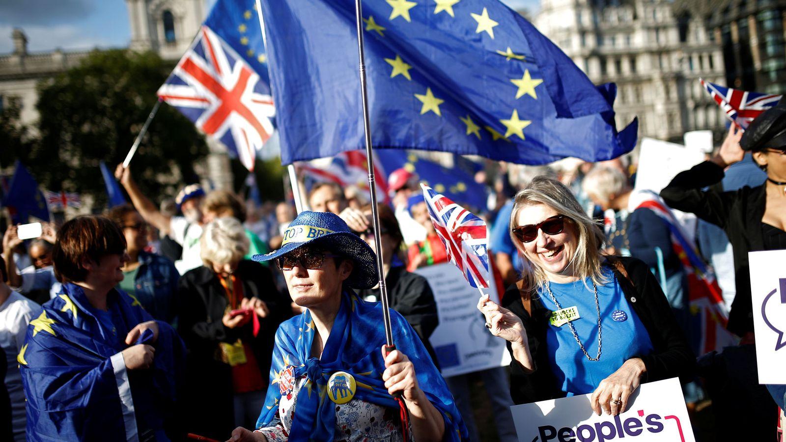 Foto: Una manifestación anti-brexit en Londres. (Reuters)