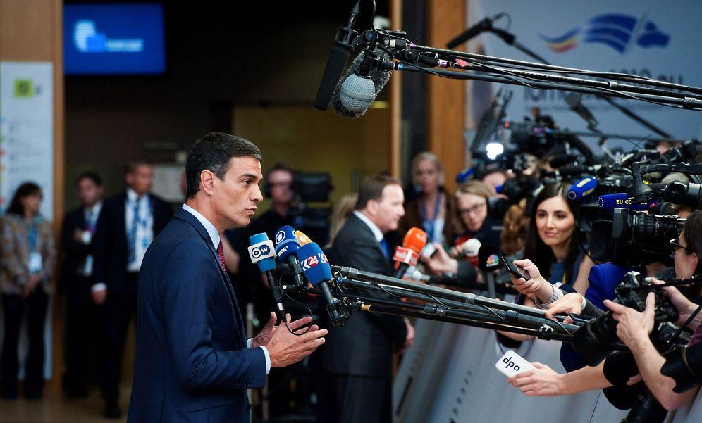 Foto: El presidente del Gobierno en funciones, Pedro Sánchez, el pasado 28 de mayo a su llegada al Consejo Europeo informal en Bruselas. (EFE)