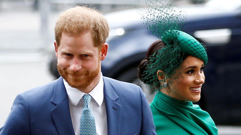 El príncipe Harry y Meghan Markle, en marzo de 2020. (Reuters)