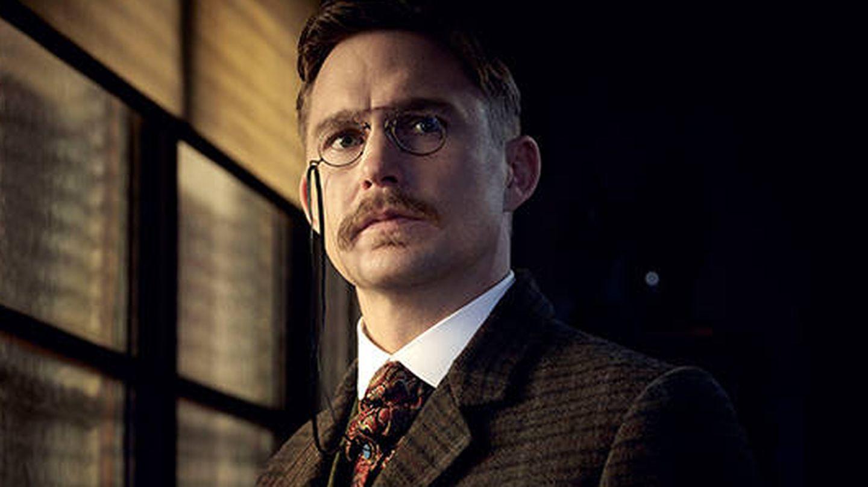 Brian Geraghty caracterizado como Theodore Roosevelt. (Netflix)