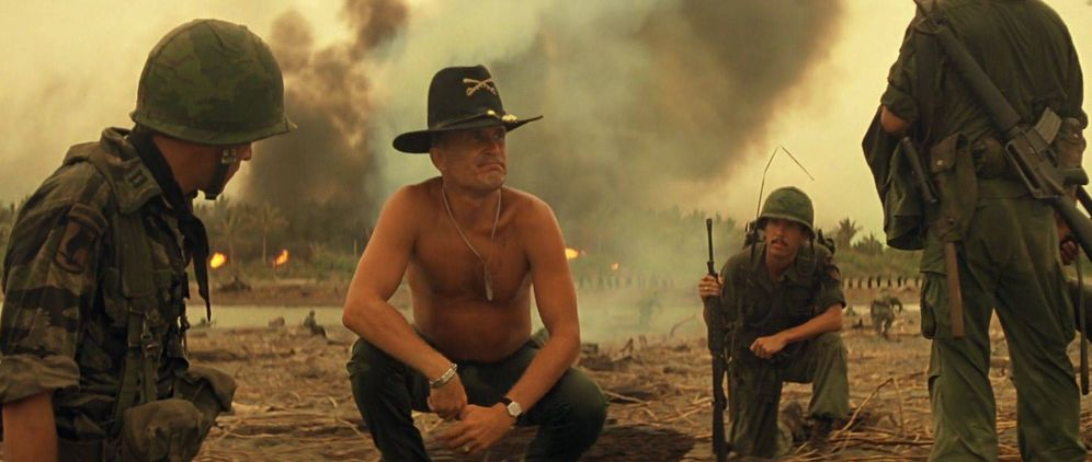 Foto: Robert Duvall se va a la Guerra de Vietnam en 'Apocalyse Now' (1979). (39 escalones)