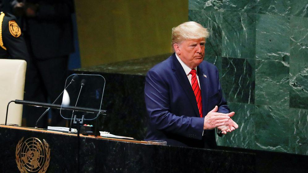 Foto: El presidente de EEUU, Donald Trump, en la sede de la ONU en Nueva York. (Reuters)