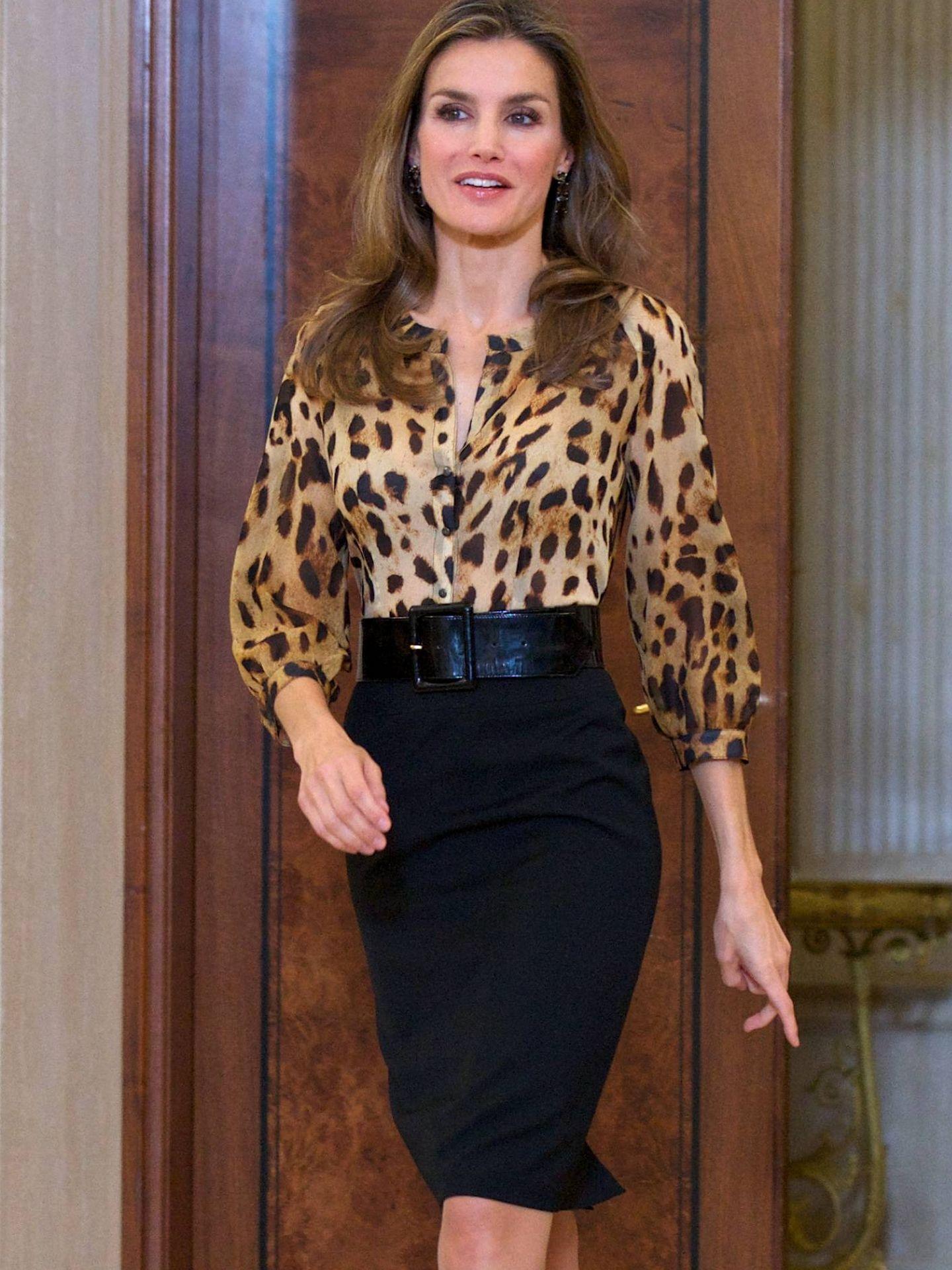 La Reina, de leopardo en 2013. (Getty)