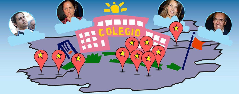 Los colegios donde estudian los hijos de los famosos en Madrid