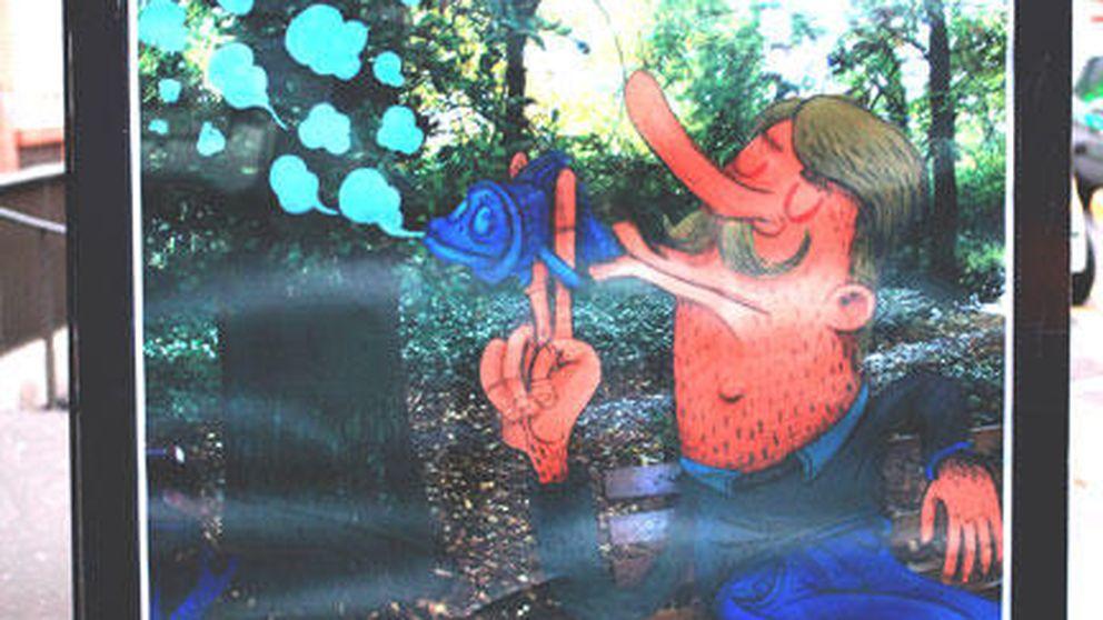 Primer día de la Cumbre del Clima: arte en marquesinas para protestar
