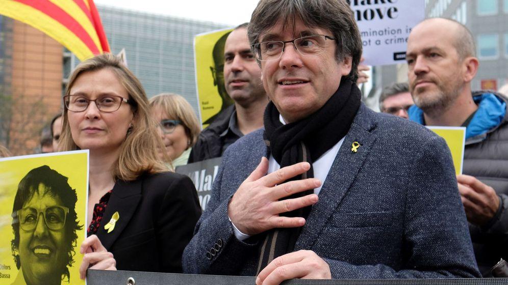 Foto: Carles Puigdemont el 15 de octubre en Bruselas. (EFE)