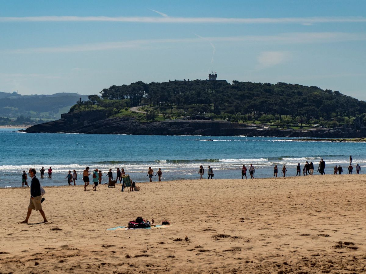 Foto: Playa del Sardinero de Santander. (EFE)