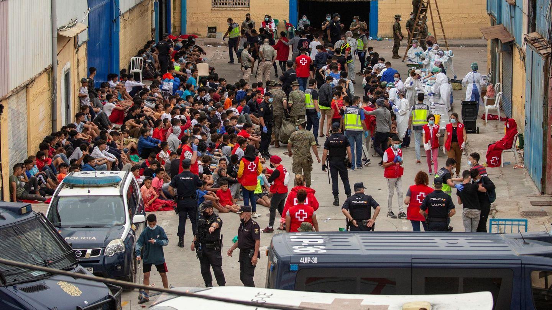 Asistencia a muchos de los menores que lograron cruzar la frontera.