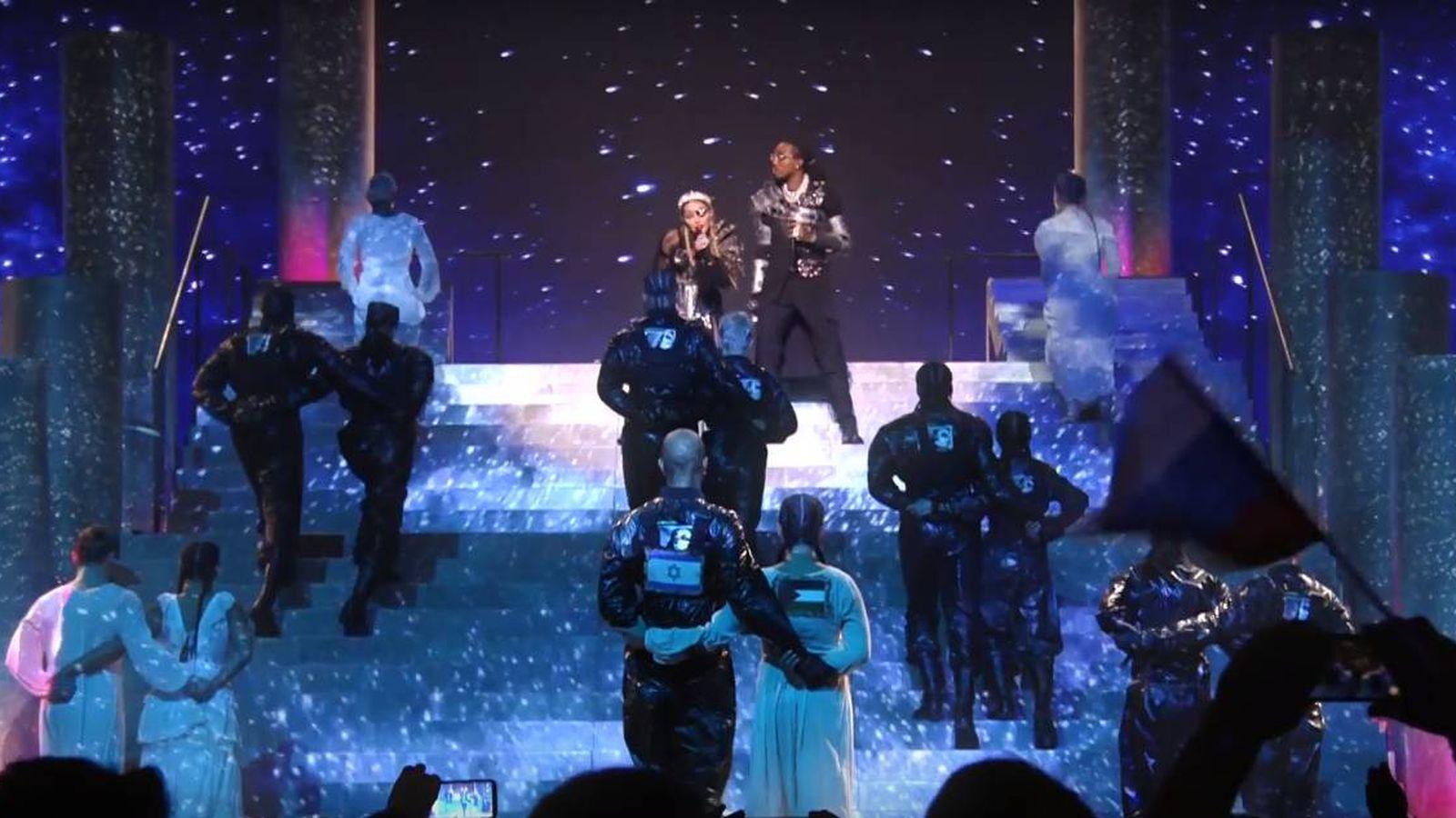Foto: Madonna y la bandera de Palestina en Eurovisión 2019.