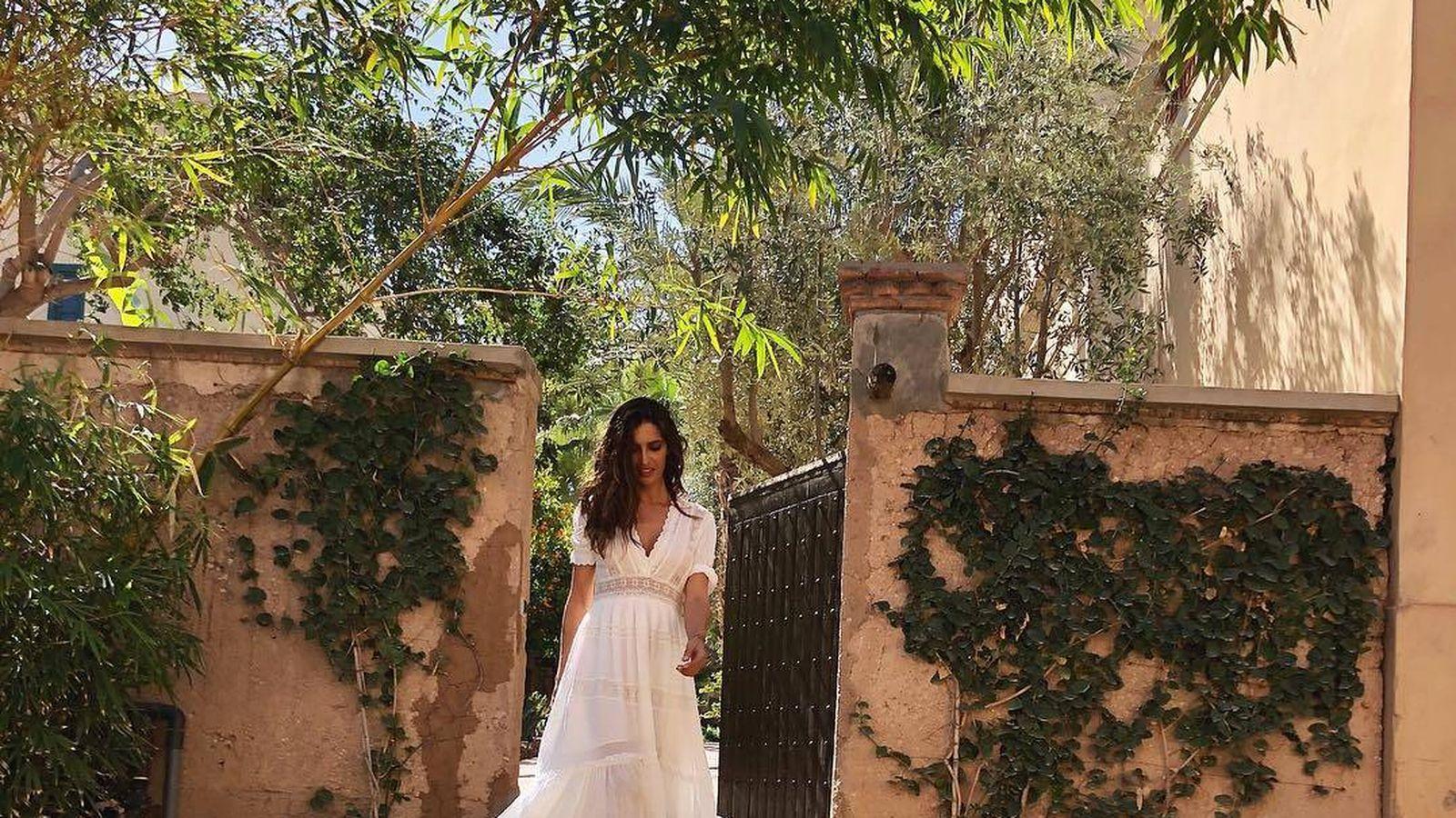 Foto: Sara Carbonero en Marrakech con su look primaveral. (Redes)