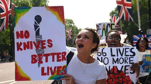 Protestas en contra de crímenes violentos en Londres
