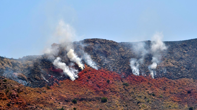 Declarado un gran incendio en un asentamiento chabolista de Níjar (Almería)