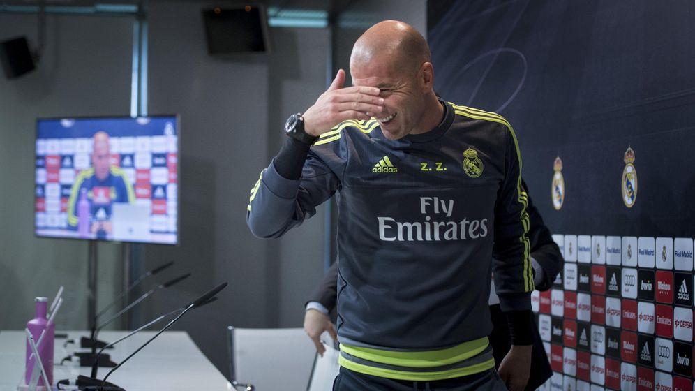 Foto: Zidane, durante la rueda de prensa previa al partido de Liga contra el Villarreal. (EFE)