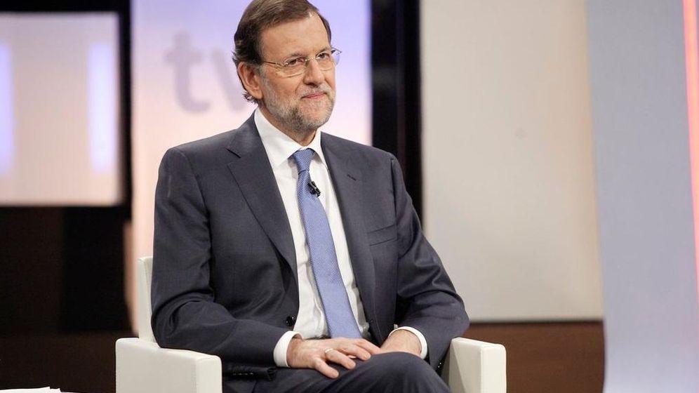 Foto: El presidente del Gobierno en el plató de RTVE. (RTVE)