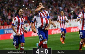 El Atlético se da un festín ante el Sevilla al ritmo del Cholo Simeone