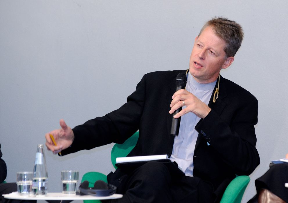 Foto: El profesor Andrew Moravcsik durante una conferencia en la Universidad de Princeton, Estados Unidos (Princeton University)