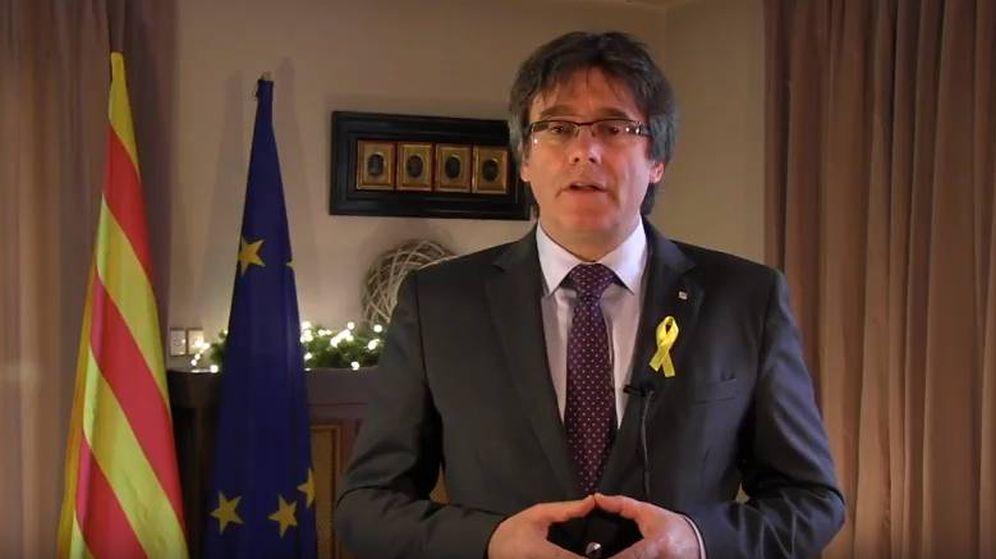 Foto: Imagen del mensaje de Año Nuevo de Carles Puigdemont.