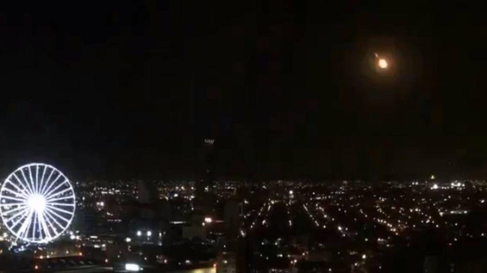Foto: El meteorito, visto desde Puebla.