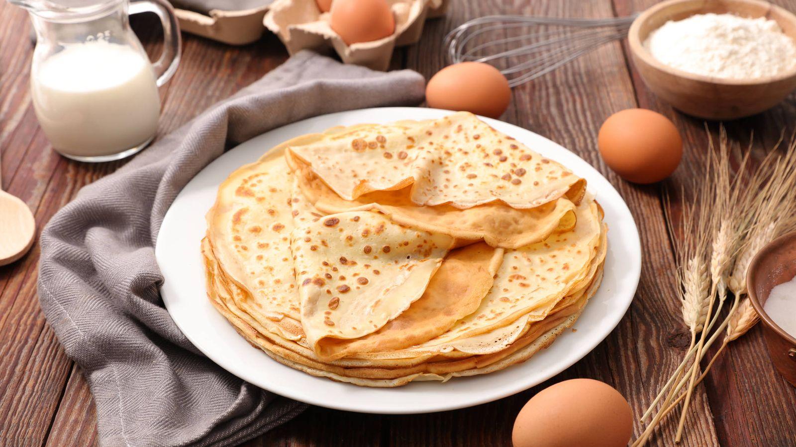 Foto: Filloas de leche y huevos. (iStock)